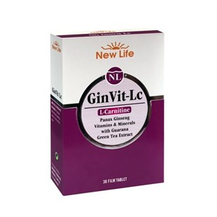 New Life Ginvit Lc (L-Carnitine) 30 Tablet