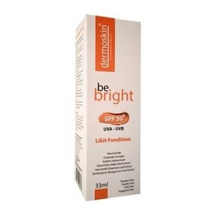 Dermoskin Be Bright SPF50+ Likit Fondöten 33ml Medium