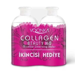 Voonka Beauty Collagen H2O , Micellar Cleansing Water 2*500 ml