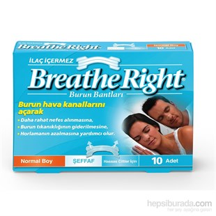 Breathe Right Şeffaf Burun Bandı Normal Boy