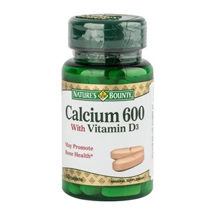 Natures Bounty Calcium 600 With Vitamin D3 60 Tablet